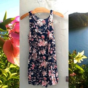 Small American Eagle Floral Tank